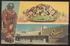 Postcard Tarpon Springs Florida/Fl Louis Pappas' Restaurant Tri-view 1950's