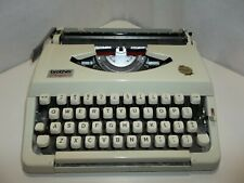 Vintage Brother Charger 11 Portable Typewriter NICE Works Cream. Black & Red Ink
