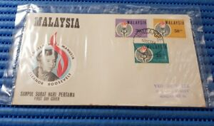 1964 Malaysia First Day Cover Eleanor Roosevelt  Commemorative Stamp Issue