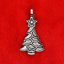 10 x tibetan silver Noël sapin charme pendentif perle en trouver