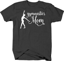 Gymnastics mom cursive proud supporter mother floor exercise T-shirt