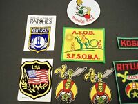 LOT OF PATCHES (8) VARIETY INCLUDES KOSAIR, MASONIC ETC.