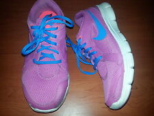 "Nike ""Flex Experience RN 2"" Pink/Blue/White Girl's Sneakers Shoes 599548 Size 9"