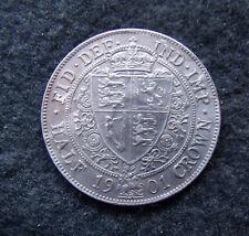 1901 Half crown Coin Queen Victoria Veiled Head .925 silver. British Coins