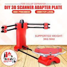 3D DIY Laser Desktop Scanner Plate Kit w/ Adapter Object For Ciclop Printer