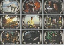"""Star Wars Masterwork 2017: """"Rebel Alliance"""" 10 Card Chase Set #LP1-LP10"""