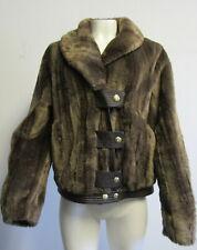 JUICY COUTURE Brown Faux Fur Coat SZ XL