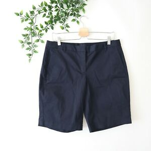 NEW J.Crew Women's Bermuda Shorts Size 10 Navy Blue