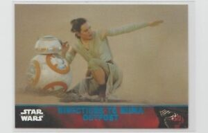 Star Wars The Force Awakens Series 1 Trading Card Blue Parallel #78