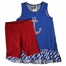 Girlfriends by Anita G. Toddler Girl's 2-piece Clothing Set, Blue Dot (4T)