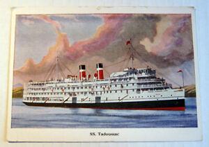 Original Vintage SS Tadoussac Canada Steamship Lines Official Postcard