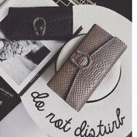 Snake Hasp purse Women Lady Clutch Wallet Fashion PU leather Messenger Bag
