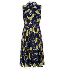Hobbs Belinda Yellow Navy Dress. Various Sizes. RRP £139.