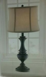 NEW!! HAMPTON BAY Candler 25.75 in. Oil Rubbed Bronze Table Lamp with Bell Shape