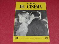 [REVUE LES CAHIERS DU CINEMA] N°104 # FEV 1960 Robert BRESSON EO 1rst Printing