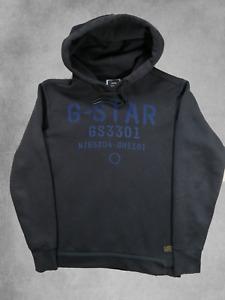 G Star Raw Hoodie Black Medium