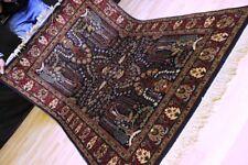 """Schöner GHOM - KASCHMIR Wolle """"Floral"""" - Orient TEPPICH Nain Rug 181x123cm #0392"""