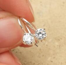 925 Sterling Silver White CZ Earrings Jewellery
