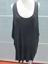 Kain Label Jersey Knit Black / Striped Insert Tank Style Dress One Size