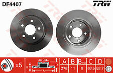 Fits Ford Transit Connect Petrol & Diesel 02-13 Rear Brake Discs 278mm Solid