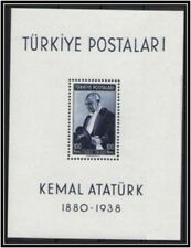 TURKEY 1939-1940 FIRST ANNIVERSARY OF THE DEATH OF ATATURK MICH# BLOCK 1 S/S MNH