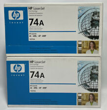 Set of 2 Genuine HP 74A Print Toner Cartridge 92274A - FACTORY SEALED BOXES