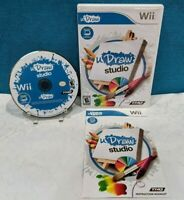 uDraw: Studio (Nintendo Wii, 2010) with Manual - Tested & Working