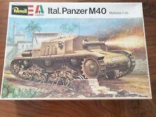 Revell Italaerei Ital. Panzer M40 1:35 H-2104 1974 Modellbau militär