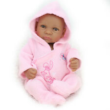 Black Girl Baby Puppen African American Full Silicone Reborn Alive Puppen NEUE