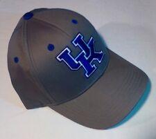 UK KENTUCKY WILDCATS Basketball NCAA Adjustable Curve Bill Baseball Hat Gray NWT