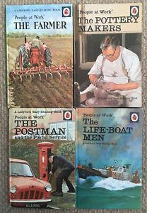 4 Vintage Ladybird 'People At Work' Books Series 606B Matt board VGC.