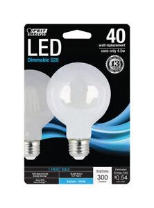 FEIT Electric 45 watts G25 LED Bulb 300 lumens Daylight 40 Watt  Globe