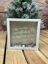More details for we are all like snow flakes glitter frame by jones home & gifts