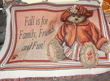 Boyds Bears Fallsworth Tapestry Afghan Throw