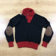 "Ralph Lauren Large Blue Red Cashmere Blend Cowl Neck Jumper Sweater 44"" Chest"