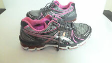 Womens Asics Gel Kayano 18 Titanium/Pink Running Shoes Size 11