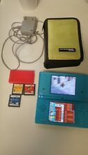 NINTENDO DSI BUNDLE WITH 4 GAMES CONSOLE CASE GAME CASE WALL CHARGER SEE PIC'S