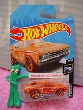 Treasure Hunt '69 Chevelle #60✰Orange;red ✰X-Raycers✰2019 i Hot Wheels Ww case C