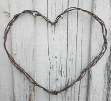Vintage Rustic Heart Barbed Barb Wire Wreath Valentine's Art Crafts Decor (2S)