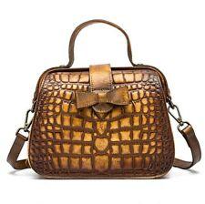 New Retro Women Genuine Cow Leather Shoulder Bag  Handbag Box Purse S 4colors