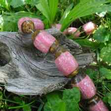 6 Beads Olive Wood and Powder Stone Patent