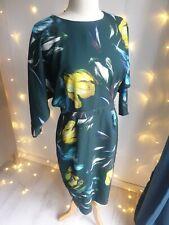 ASOS Green Dress Cocktail Long-sleeve Pencil Skirt Size 12