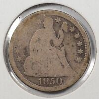 1850 Liberty Seated Dime Good Condition #143638