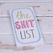 The Sh*t List Fridge Magnet Pad - Shopping List