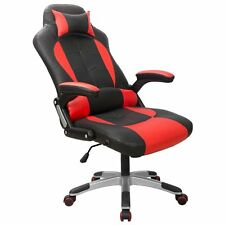 LUXURY SPORT RACING Red Gaming Chair High-Back Computer Chair Ergonomic Design