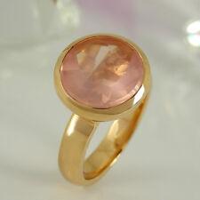 Ring in 585/- Roségold mit 1 Rosenquarz 5,00 ct NEU Gr. 56