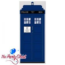 6FT POLICE BOX DOOR COVER Blue GB Police Box Tardis Dr Who Door Decoration 52171