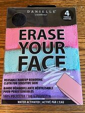 NEW Danielle Erase Your Face 4-Pack Reusable Makeup Removing Cloth
