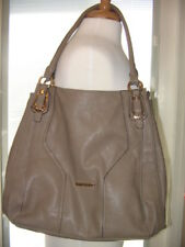CHIC LARGE GUSSACI FAUX LEATHER TAUPE TOTE OR SHOULDER HANDBAG, SHARP, FREE SHIP