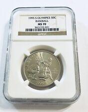 1995 S Olympics 50C Baseball MS70 Half Dollar 50 Cents - Ships Fast